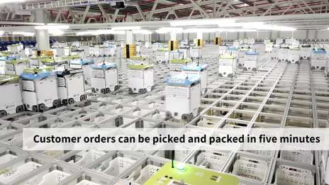 Inside Ocado's Andover CFC3 automated warehouse