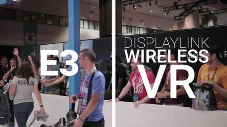 Wireless VR with Miniguns!!! | DisplayLink @ E3