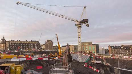 CTL 1600-66 tower crane at Edinburgh St James