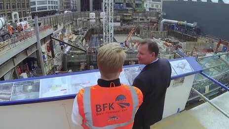 Kier graduates working on Crossrail, Farringdon