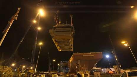 HMS Queen Elizabeth Navigation Bridge Installed