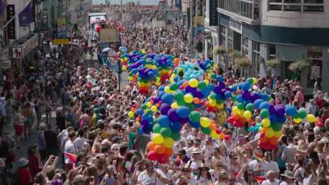 Gatwick Airport at Pride in Brighton